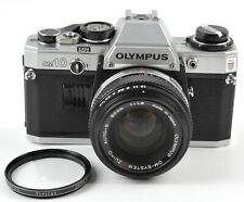 USA Olympic Olympus OM10 35mm SLR Film Camera w/ Zuiko Auto-S 50mmf/1.8 Lens