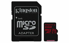 Kingston Canvas React 64GB Micro SDXC Memory Card Class 10 U3 V30 A1 with SD Ada