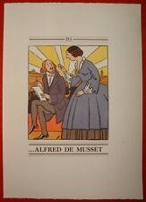 Estampe 211 HUMOUR ROMANESQUE - GEORGE SAND et ALFRED de MUSSET