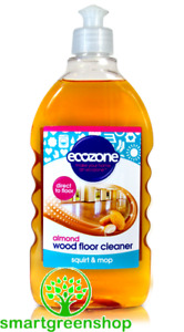 Ecozone Almond Wood Floor Cleaner 500 ml, Squirt & Mop