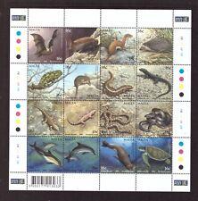 Malta MNH 2004 Mammals and Reptiles, Nature sheet mint stamps