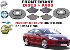 für Peugeot 406 Coupe 2.0 2.2 1999-2004 Vorderbremse Scheibensatz + BREMSBELÄGE