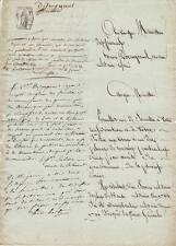 Généraux SAHUC & COSTE autographe 1803