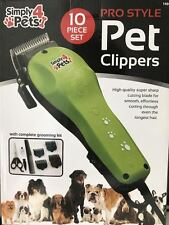 10PC PET HAIR TRIMMER CLIPPERS GROOMING DOG RECHARGEABLE SHAVER PROFFESSIONAL
