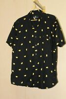 Taco Shirt Mens XL Cotton Button Front Rockabilly Black S/S ~ Molokai Surf Co