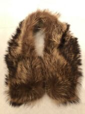 """Genuine Real Fur Collar, Soft Fluffy - Brown Approx. 32"""""""