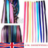 UK 5PCS/Set Highlight Streaks Long Straight Clip in on Synthetic Hair Extensions