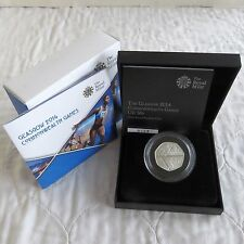 UK 2014 GLASGOW COMMONWEATH GAMES 50 PENCE PIEDFORT SILVER PROOF - complete