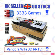 UK SELLER 3333 Games Pandora's Box WiFi Retro 3D HD Video Arcade Console