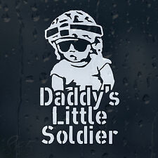 Funny Daddy's Little Soldier Baby On Board Car Decal Vinyl Sticker