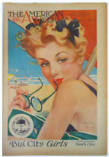 Vintage THE AMERICAN WEEKLY Magazine (10/21/45) BABE RUTH Leydenfrost ART Pin-Up