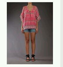 Antik Batik Julian Tee Pink Sheer Silk Blouse Small ☆Sold Out☆Babah 3c782170e