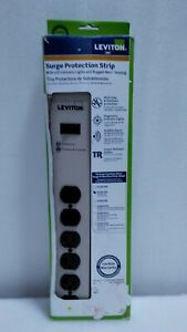 Leviton 20 Amp Heavy Duty Surge Protected 6-Outlet Power Strip, On/Off Switch, 6
