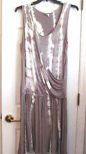 Madison Size XL Rayon Stretch Drop Waist Drape Top Tie Dye Sundress