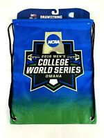 OFFICIAL NCAA 2016 MEN'S COLLEGE WORLD SERIES OMAHA DRAWSTRING BACKPACK BAG NEW!
