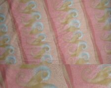4 Yards Antiquity Pink and Gold Wave Design