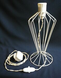 VINTAGE 1950s ATOMIC COATED WIRE LAMP LIGHT BASE MID CENTURY MODERN ORIGINAL