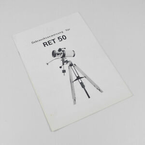 RET 50 Danubia Teleskop - Gebrauchsanweisung - Gebrauchsanleitung - Deutsch