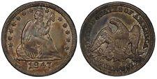1847 Seated Quarter PCGS AU-55 Choice Original!!