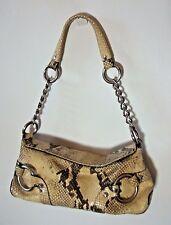 Snake Embossed  Leather Purse Handbag Adrienne Vittadini Vintage Retro Chains