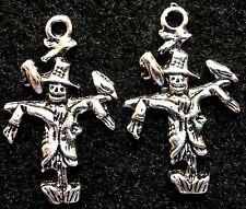 50Pcs. WHOLESALE  Tibetan Silver Halloween SCARECROW Charms Pendants Drops Q0831