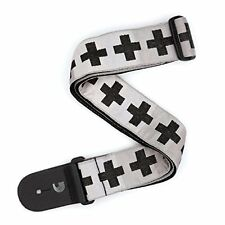 Woven Guitar Strap, Checkered Crosses