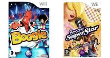 Menta condición Boogie y Boogie SuperStar = 2 en 1 = NINTENDO Wii = micrófono = Udance