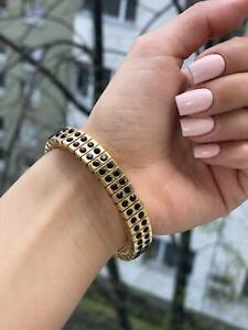 Onyx Bracelet gift for her Black jewelry for women Formal evening bracelet HMADE