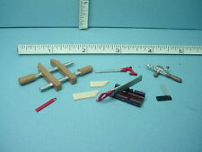 Dollhouse Miniature Carpenter's Tools Set 1 (5 diff) Reynolds Painted Metal 1/12