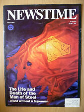 DC COMIC SUPERMAN: 1993 NEWSTIME- THE LIFE & DEATH OF THE MAN OF STEEL