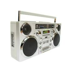GPO Brooklyn DAB/FM Radio Portable Music Boombox - Silver