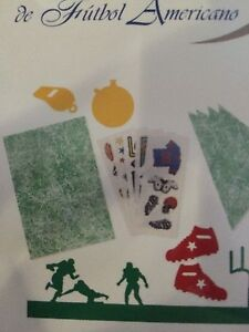 CREATIVE MEMORIES FOOTBALL COMBINATION PACK STICKERS DIE-CUTS AND PAPER NLA