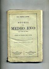 Prof. Fedele Savio # STORIA DEL MEDIO EVO #Libreria Editrice Internazionale 1921