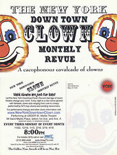 THE NEW YORK DOWN TOWN CLOWN MONTHLY REVUE ADVERTISING COLOUR POSTCARD