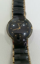 Rado Diastar Watch 32MM Ceramic/Gold Quartz 129.0300.3 Vintage