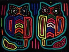 Kuna Indian Hand-Stitched Hoot Owl Bird MoIa-Panama 18041615L