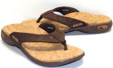 SOLE Casual Cork Textured Brown Flip Flops Women's US Shoe Size 7M NEW