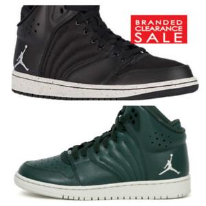 BNIB New Boys Nike Air Jordan 1 Flight 4 PREM premium Black Green Size 4 5 6 UK
