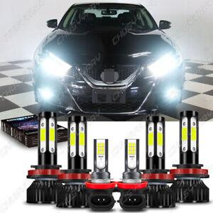 Para For Nissan Maxima 2018-2016 LED faro de haz alto/bajo+Kit de luz antiniebla