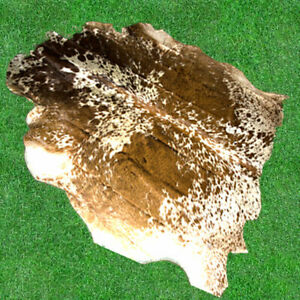 """New Cowhide Rugs Hair On COW HIDE Rugs Area Cow Skin Leather Rugs (65"""" x 67"""")"""