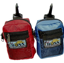 Pet Dog Puppy Treat Snack Food Bag Obedience Training Pouch - Red & Blue