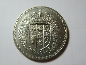 NZ  1975  ONE DOLLAR COIN    1 COIN