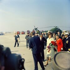 President John F. Kennedy and Jackie arrive at Quonset Point NAS New 8x10 Photo