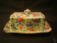 "ROYAL WINTON ""OLD COTTAGE CHINTZ"" COVERED BUTTER DISH"