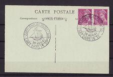f/  carte  exposition l' art dans le timbre  Paris   1941