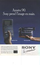PUBLICITE ADVERTISING 1989 SONY    camescope TR55 walkma