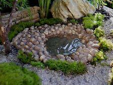 Fairy Garden Fairy Pond for Fairy Garden or Miniature Garden or Dollhouse