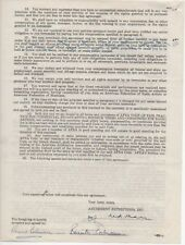 RONALD COLMAN & Benita signed Jack Benny TV contract