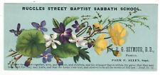 1707 R. G Seymour, Ruggles Street Baptist Sabbath School trade card Park P Allen