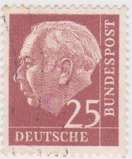 (G463) 1954 GERMAN 25pf purple press Heuss ow1112